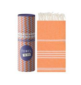 Towel to Go Hamamtuch Ipanema orange