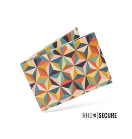 Paprcuts Portemonnaie RFID Abstract Retro