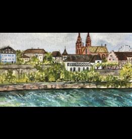 Faltkarte Basel am mym Rhy