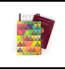 Paprcuts Reisepass Cover Dreiecke Bunt