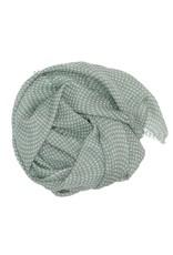 Wollschal Drops/mintgrün 100% Wolle handgewoben