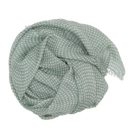 Wollschal Drops/mintgrün