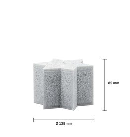Quellenhofstiftung Sternenkerzen hellgrau D13.5 H8.5cm