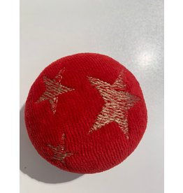 Stressball mit Kräutern Weihnachten rot