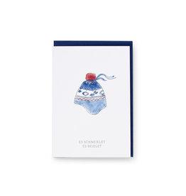 Klassische Weihnachten/Mütze Faltkarte