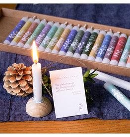 Fidea Design 24 Kerzenmomente Adventskalender mit Baumkerzen