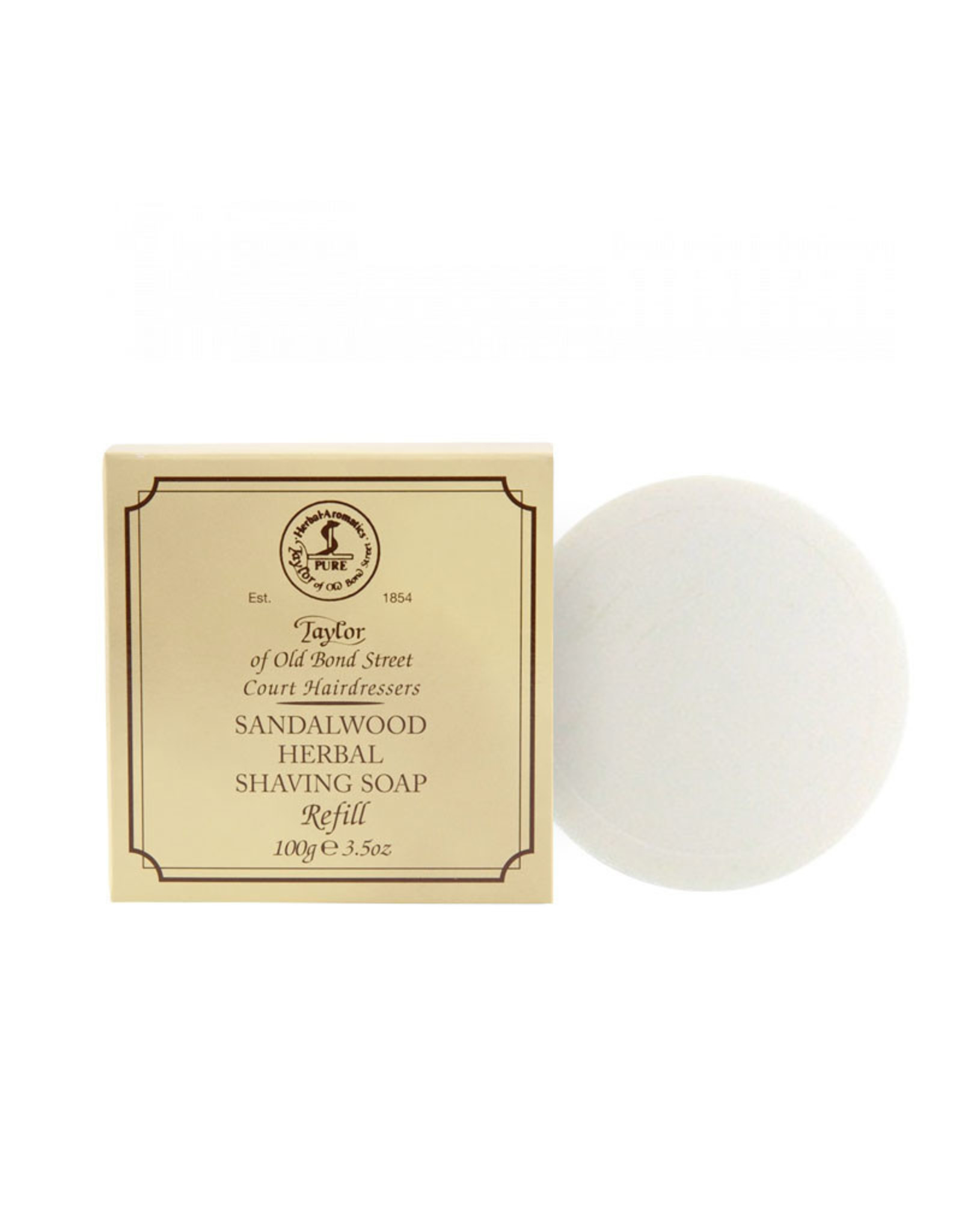 Taylor of Old Bond Street Sandalwood Herbal Shaving Soap Refill 100gr