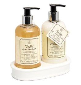 Taylor of Old Bond Street Hand Wash & Moisturiser Gift Set 2x300ml Sandalwood