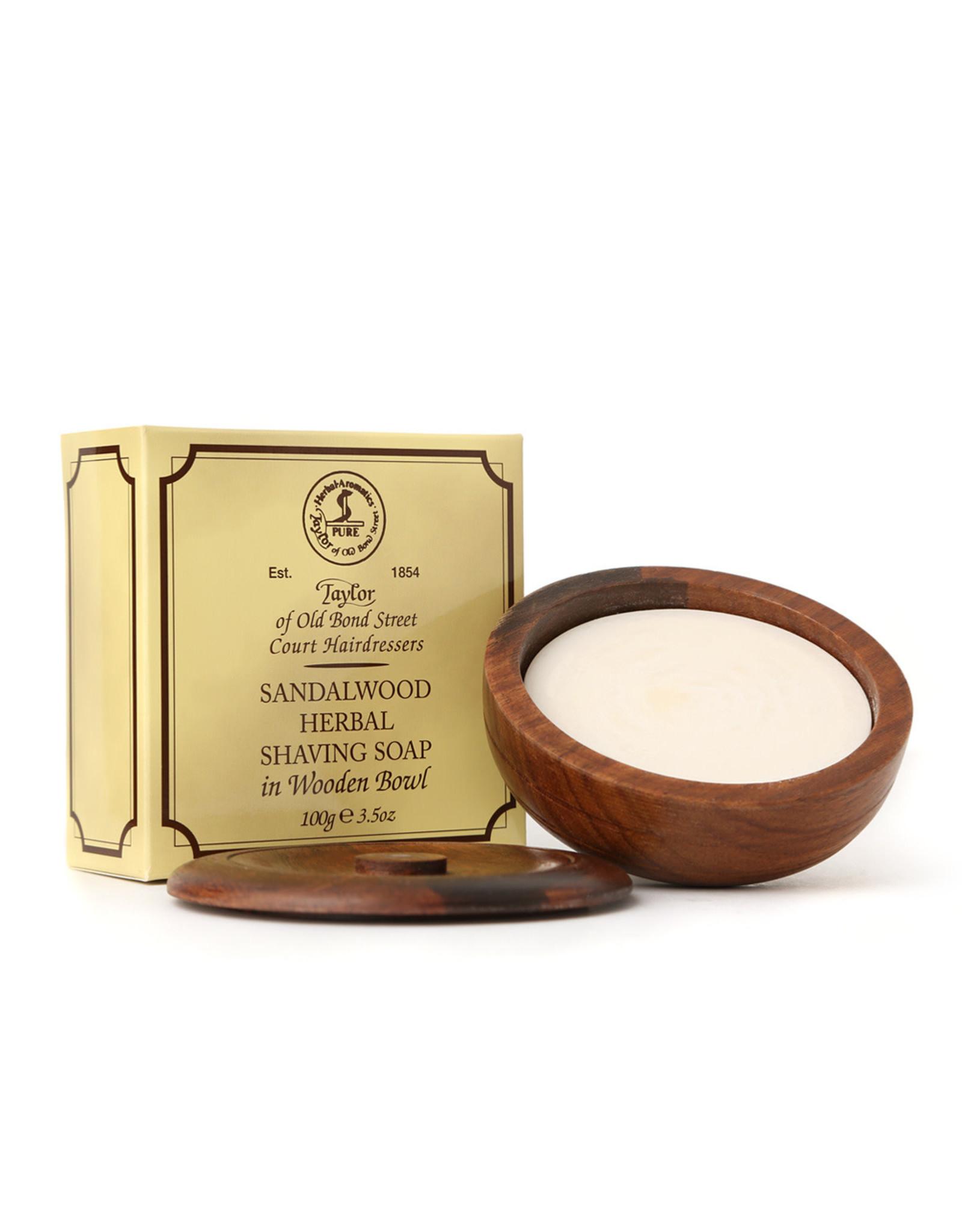 Taylor of Old Bond Street Shaving Soap 100g incl. Wooden Bowl Sandalwood