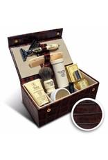 Taylor of Old Bond Street Luxury Men's Grooming Box in Brown Mock-Croc