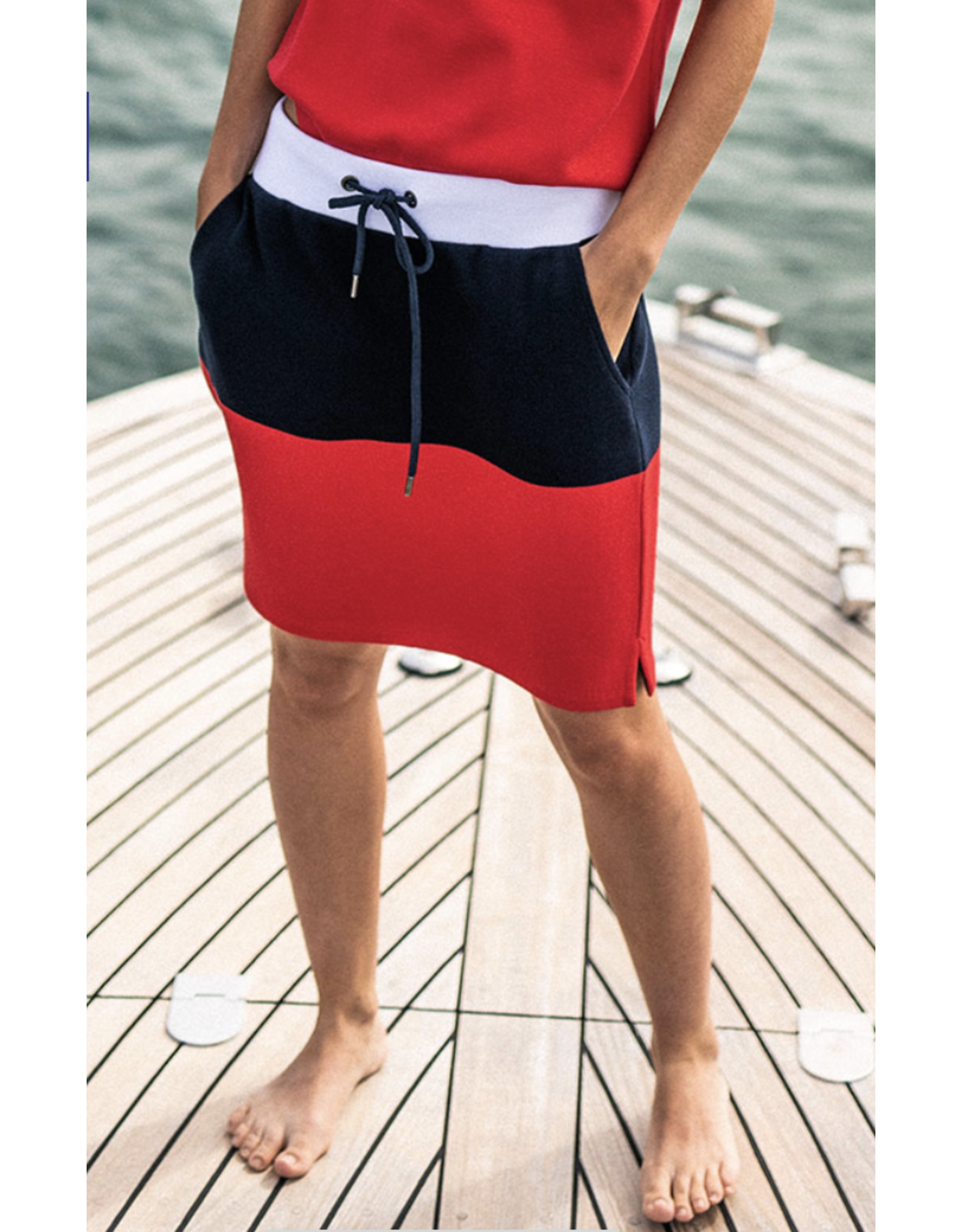 Saint James Martina Tulipe/Navy/Blanc T40