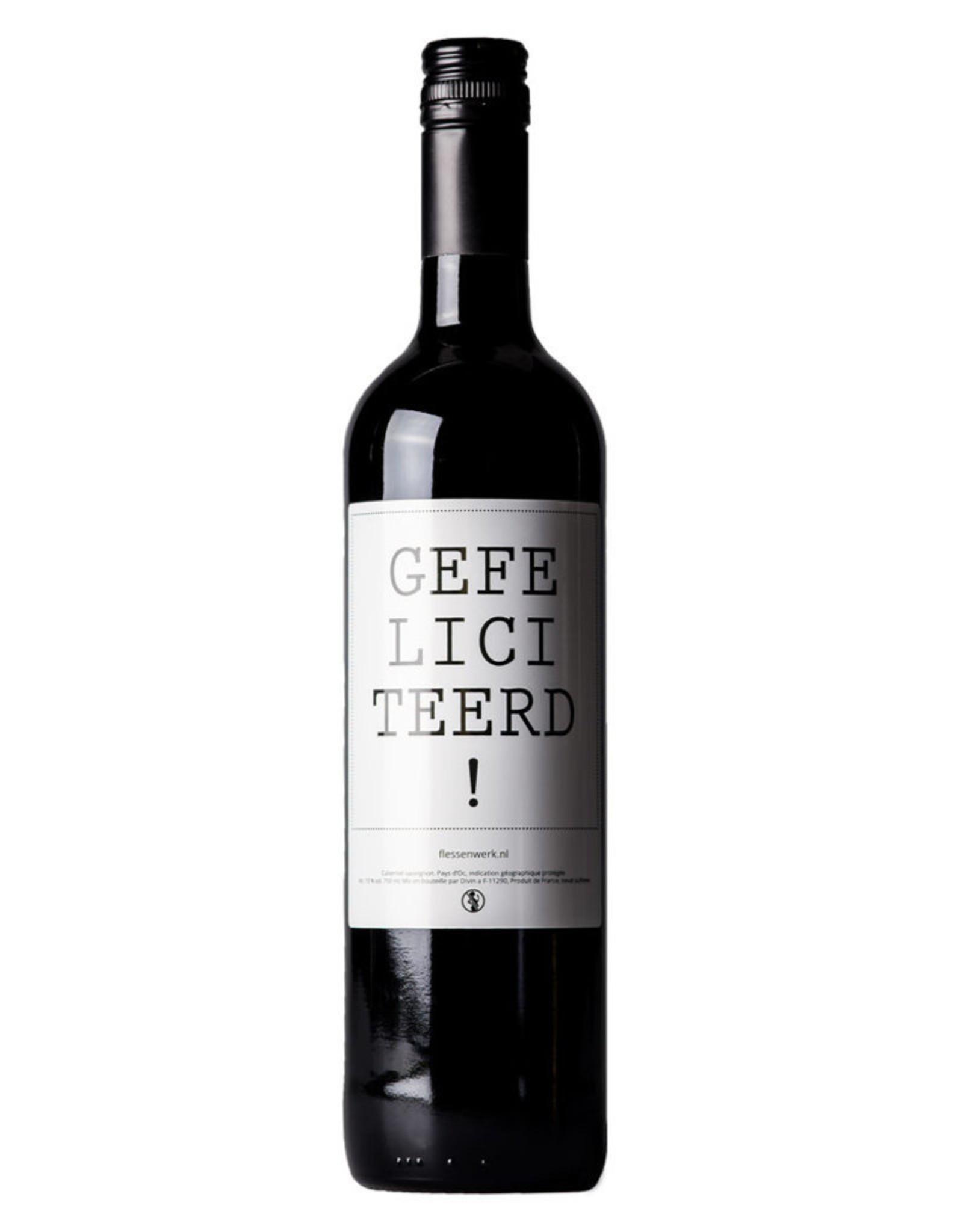 Flessenwerk Gefeliciteerd! Wijn