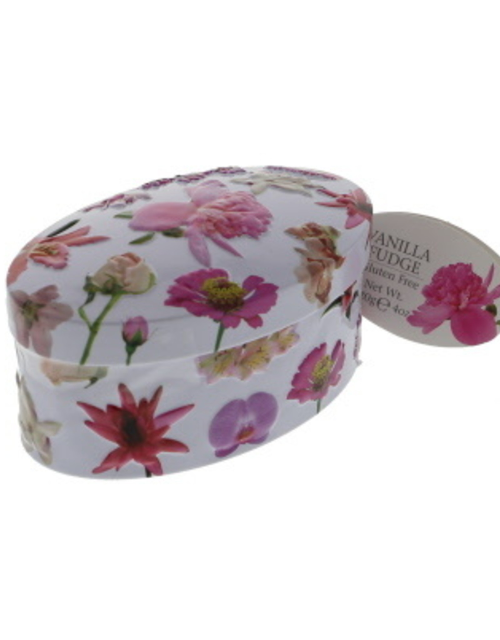 Gardiners fudge Red flower tin vanilla fudge