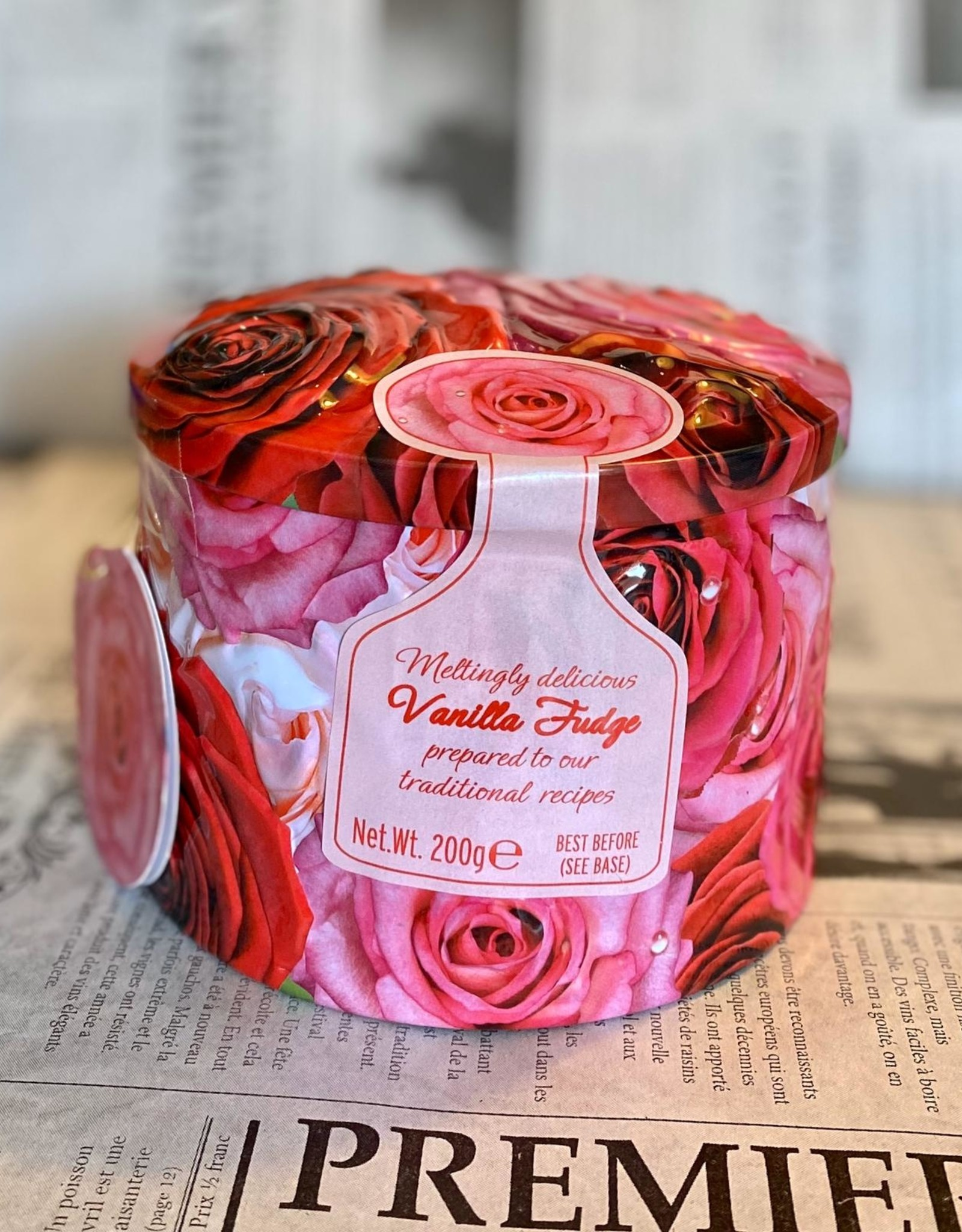 Gardiners fudge Roses tin vanilla fudge