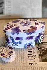 Gardiners fudge Purple flower tin vanilla fudge