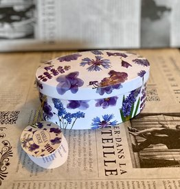 Gardiners fudge Purple flower tin vanilla fudge