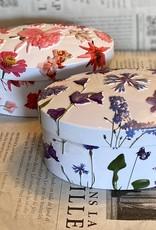Purple flower tin vanilla fudge