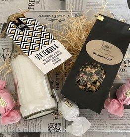 Cadeaupakket voetenbadje en thee - Bedankt Juf