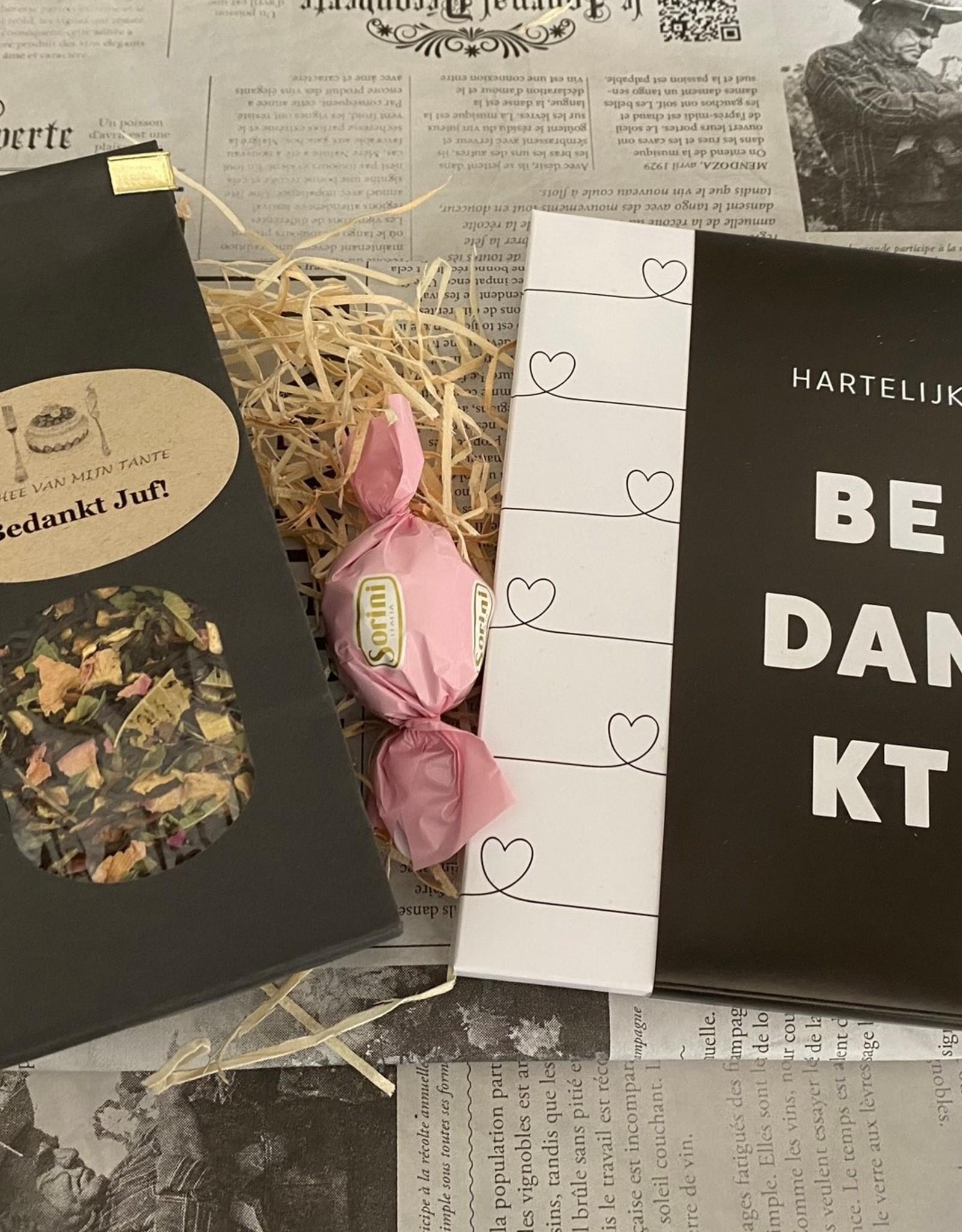 Theepakket met chocolade - Bedankt Juf