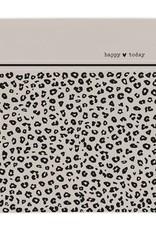 "Bastion Collections Servetten panterprint 'Happy today"""