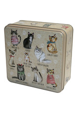 Grandma Wild's Embossed Cats in Jumpers Tin