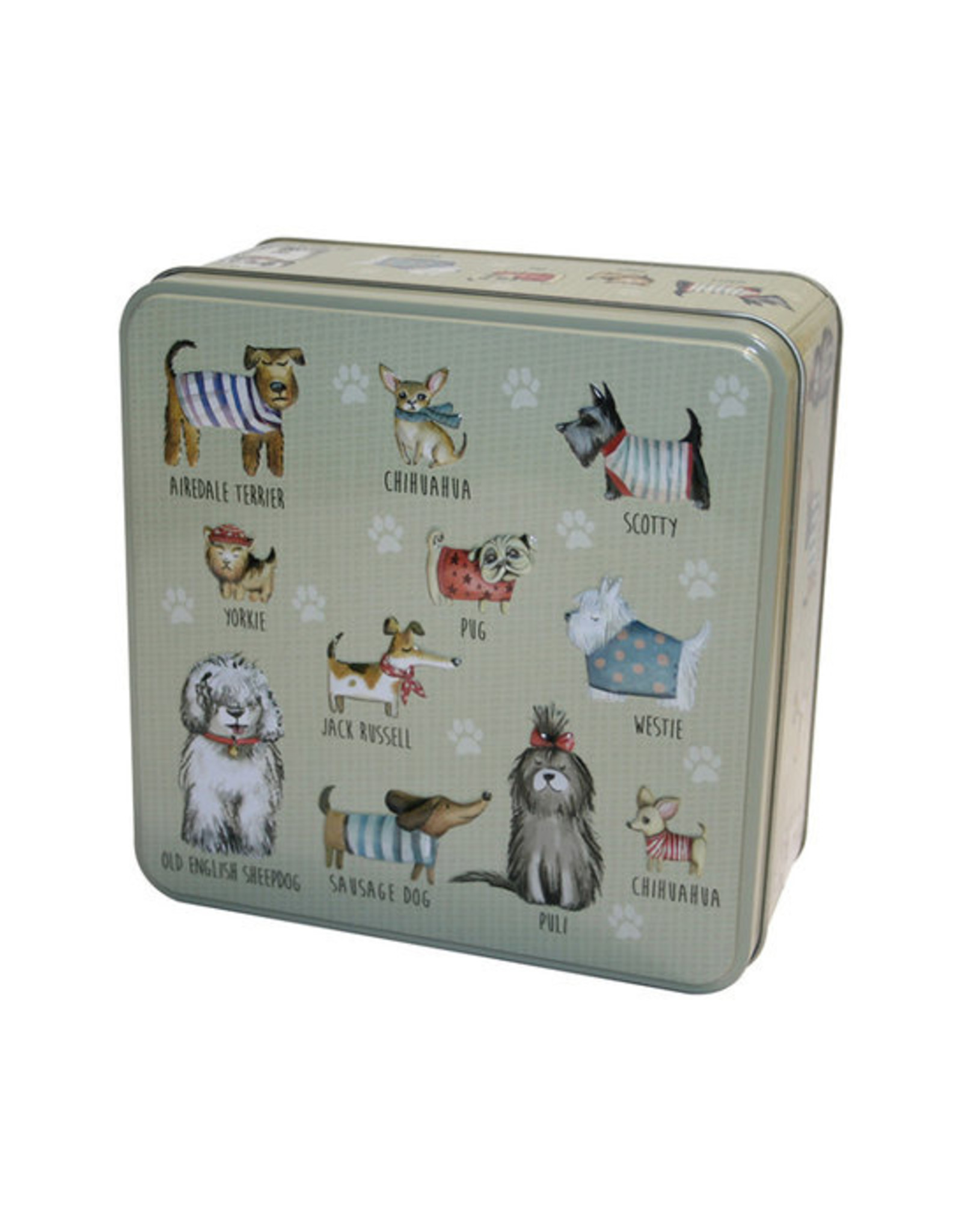 Hondenblik in relief gevuld met koekjes