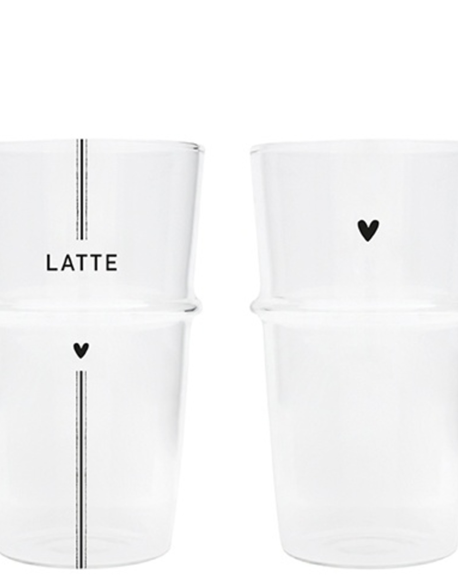 Bastion Collections Latte Machiato glas streep