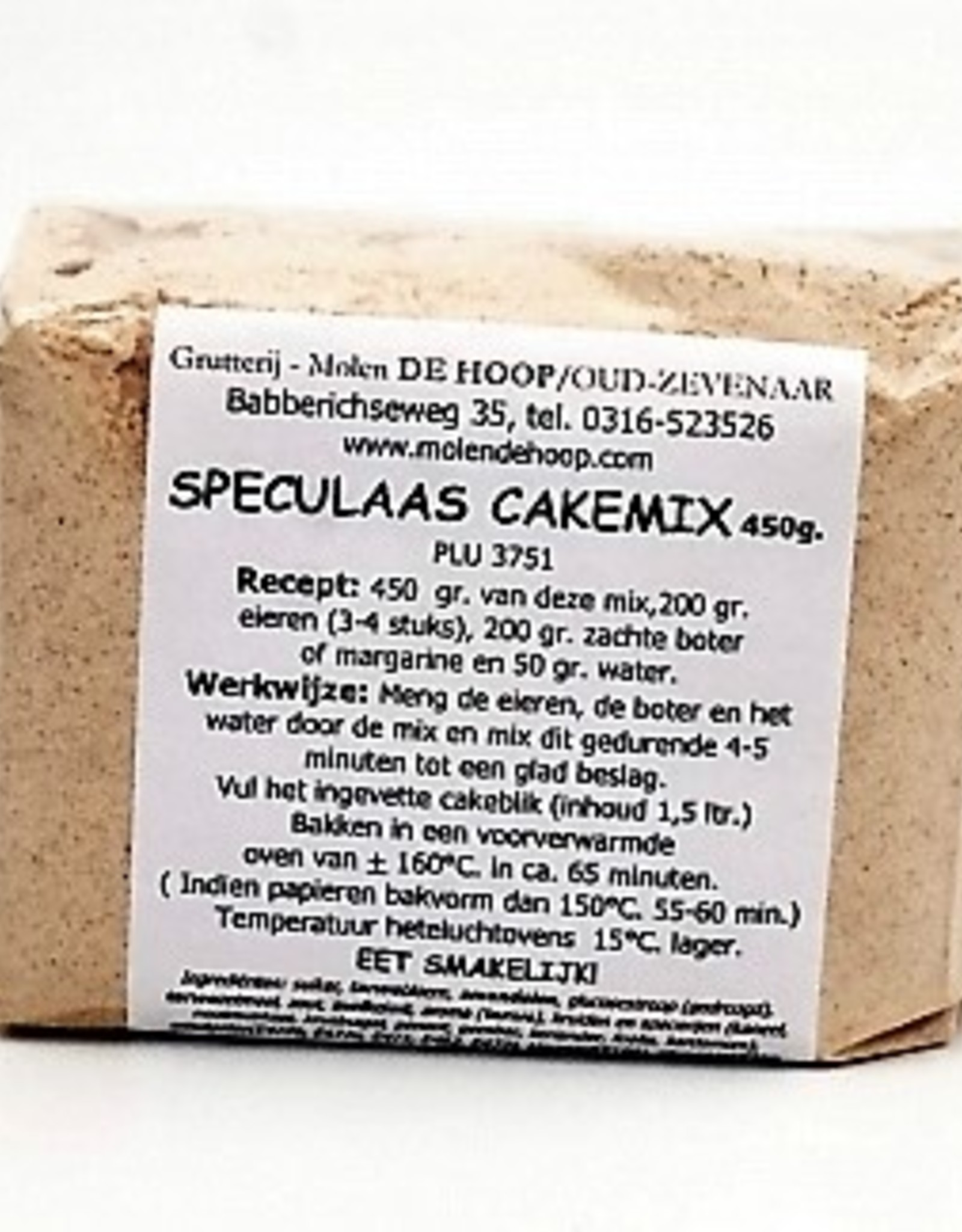 Grutterij Molen de Hoop Speculaas Cakemix