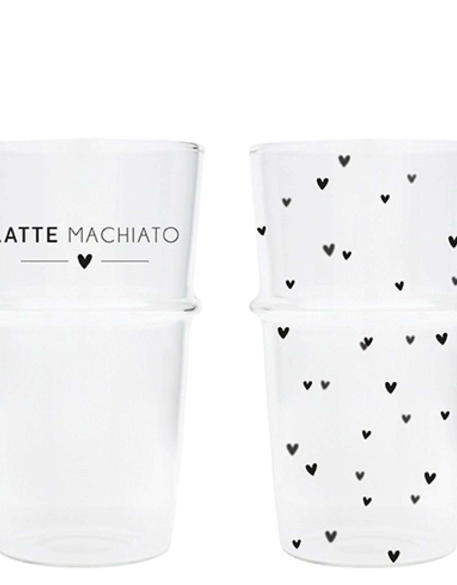 Bastion Collections Latte Machiato glas hartjes
