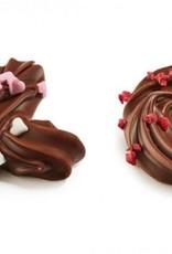 Kusjes en knuffels chocolaatjes