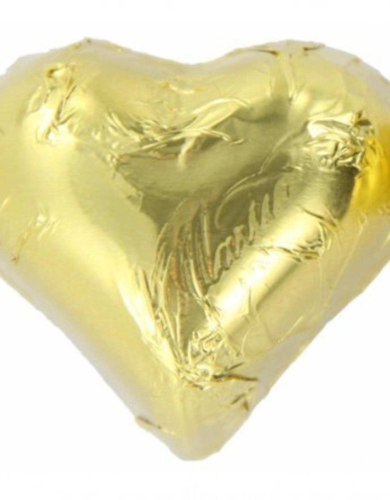 Chocoladehartje  Goud