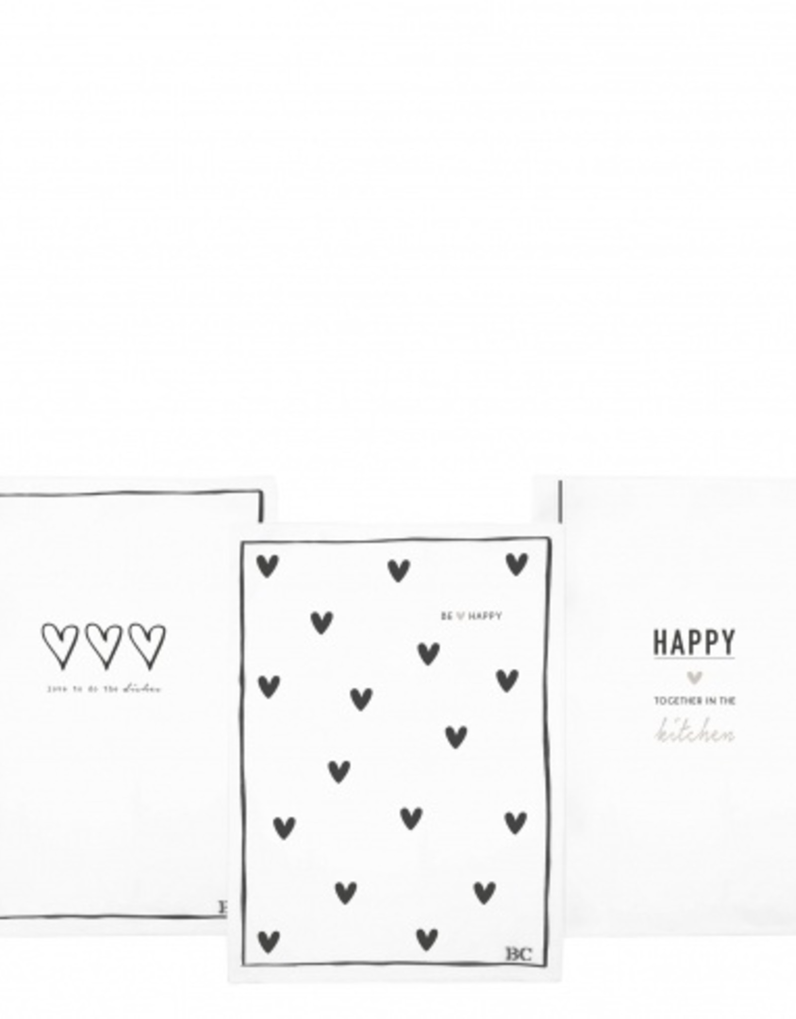 Bastion Collections Kitchen Towels white & black