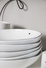 Bastion Collections Soup/pasta plate white little heart