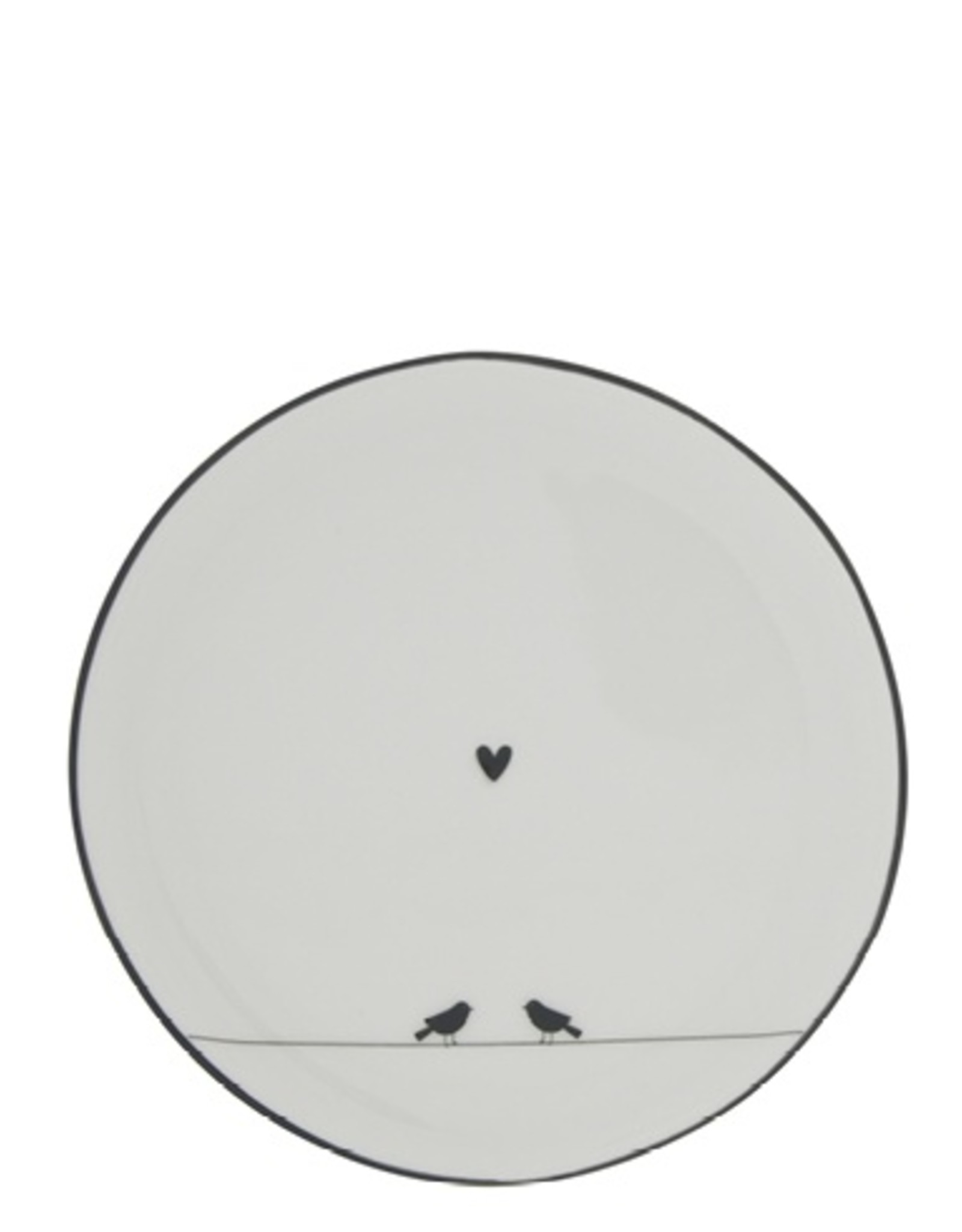 Bastion Collections Cake plate love birds