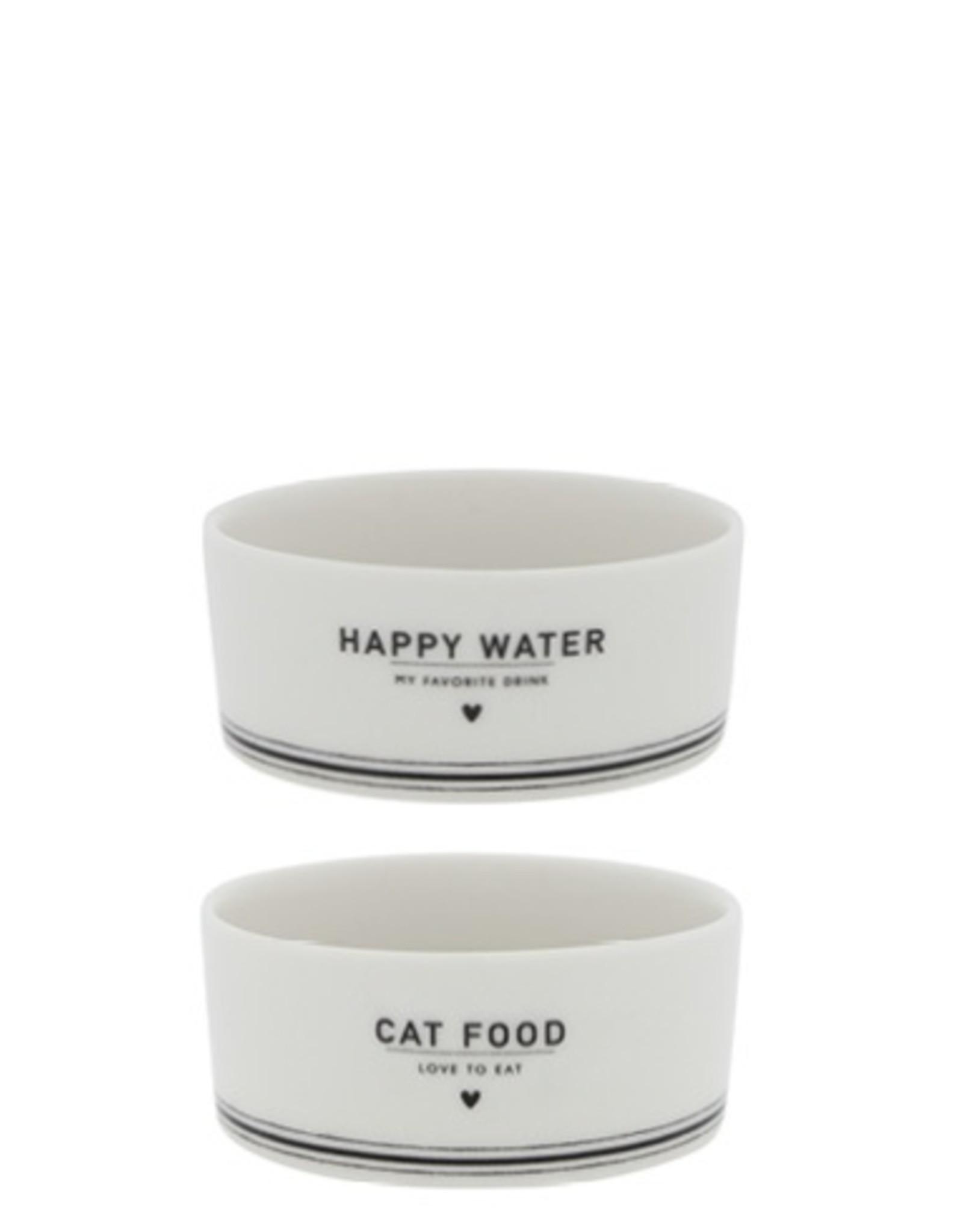 Cat food & water bowl