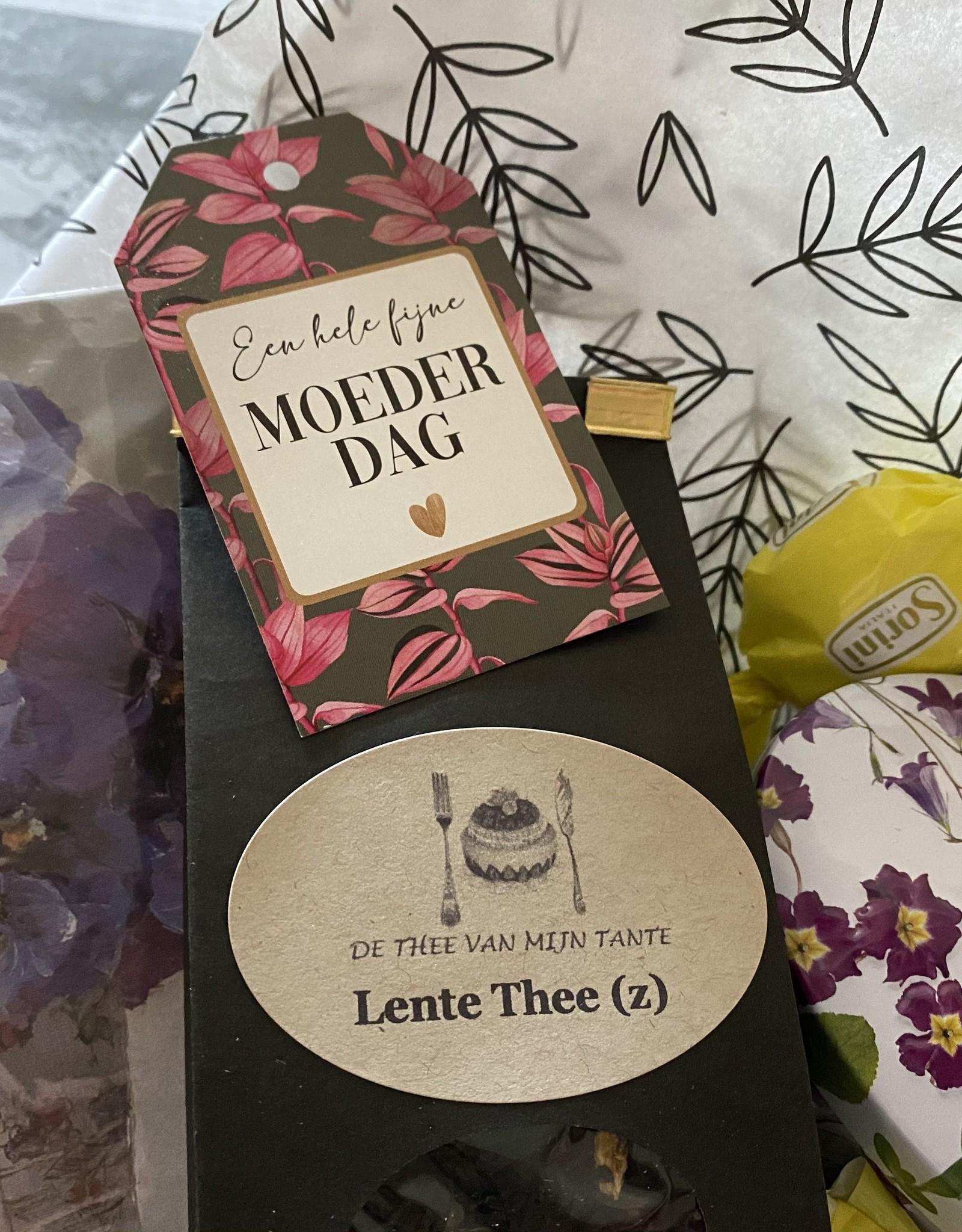 Cadeupakket thee met fudgeblikje bloem