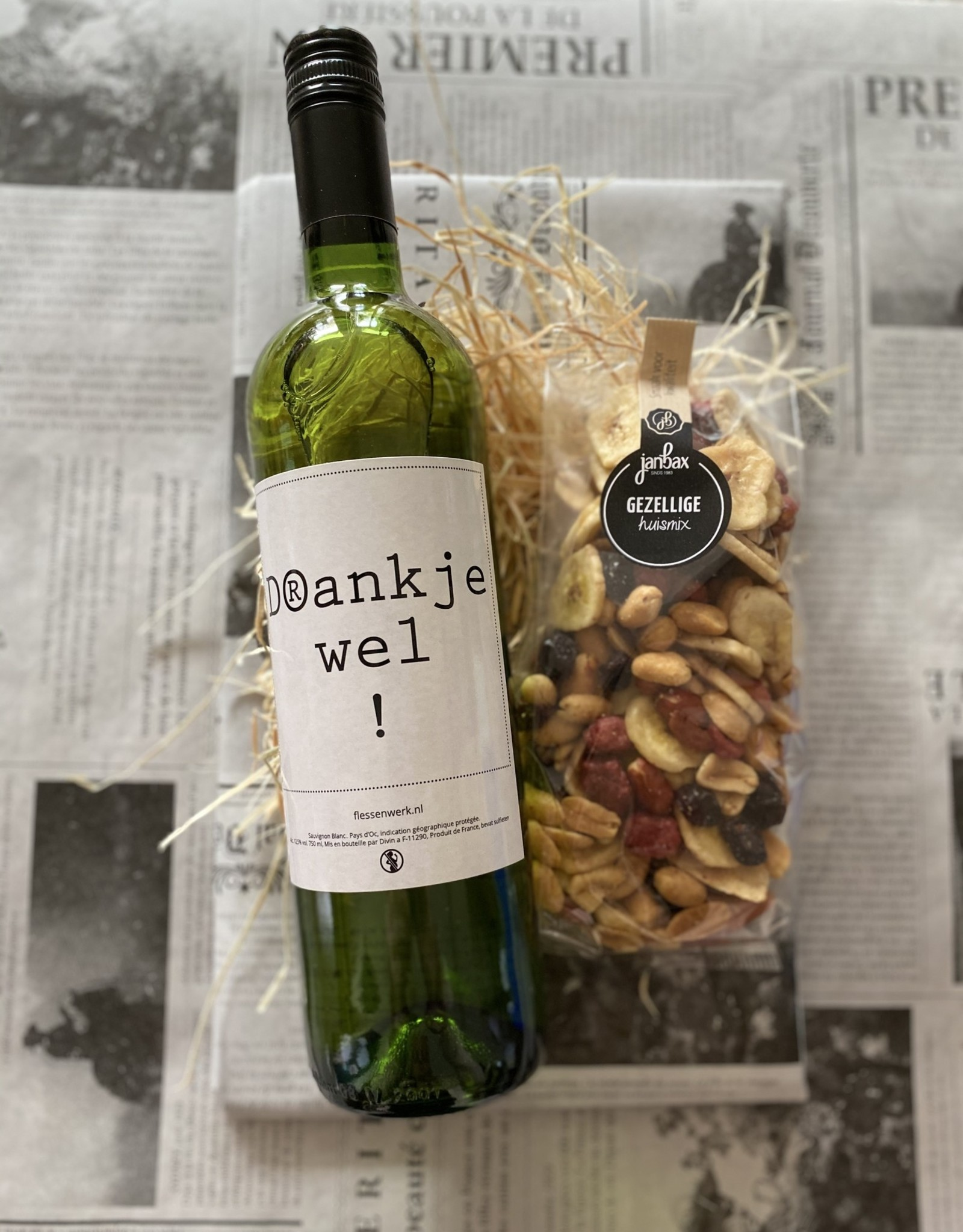 Wijnpakket in emmer - Bedankt