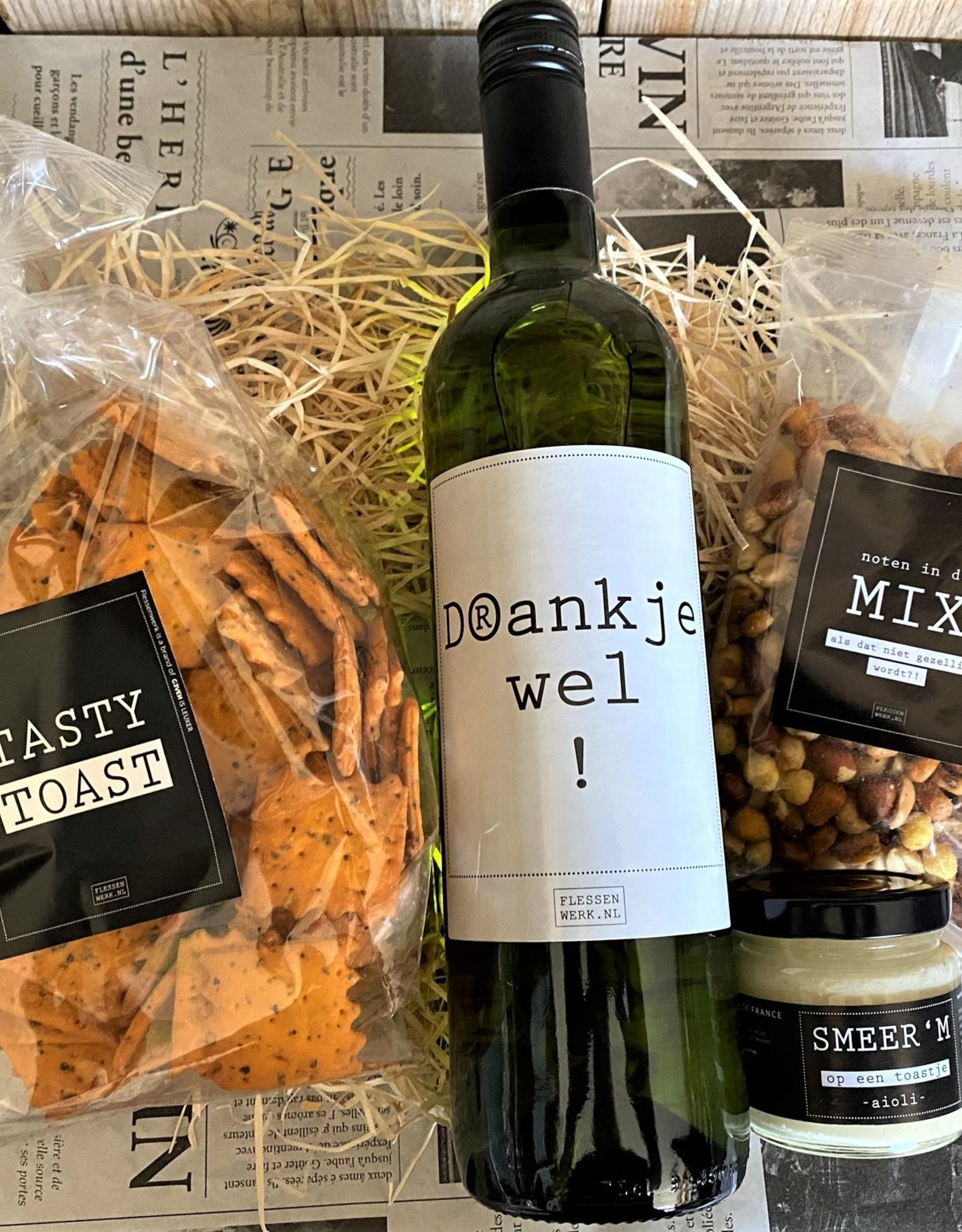 Borrelpakket wijn - Bedankt