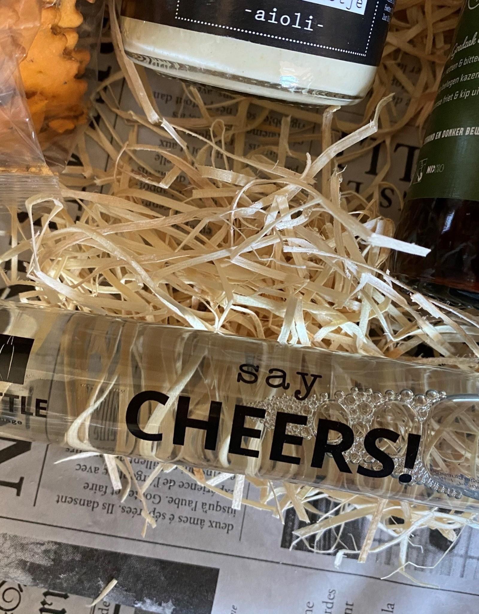 Borrelpakket wijn en chocoladewens - Bedankt