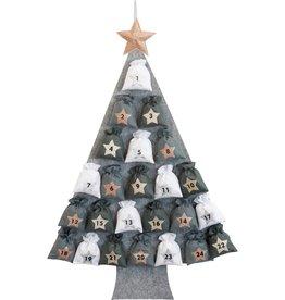 Adventskalender kerstboom vilt