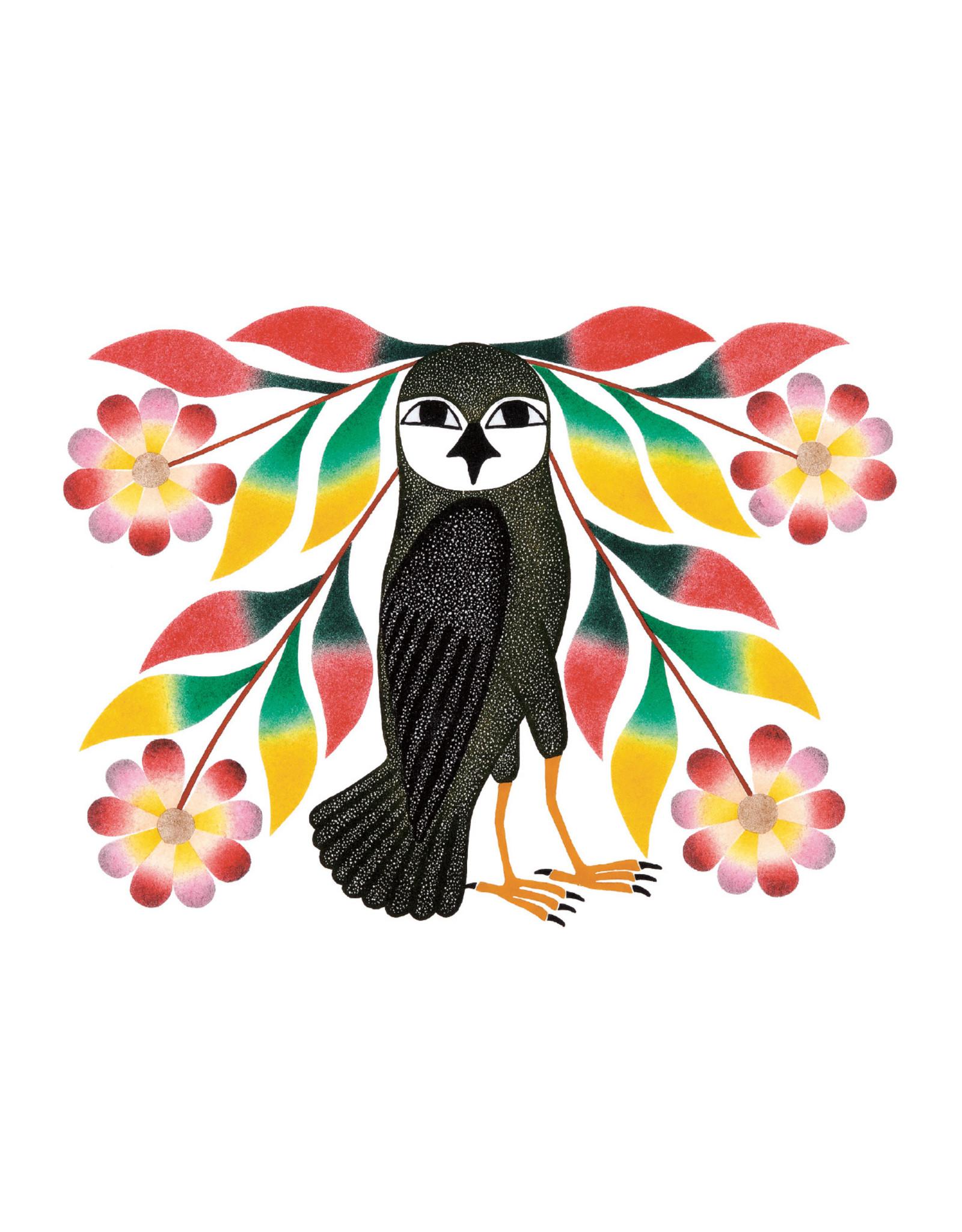 Cape Dorset Art Card: Owl's Bouquet