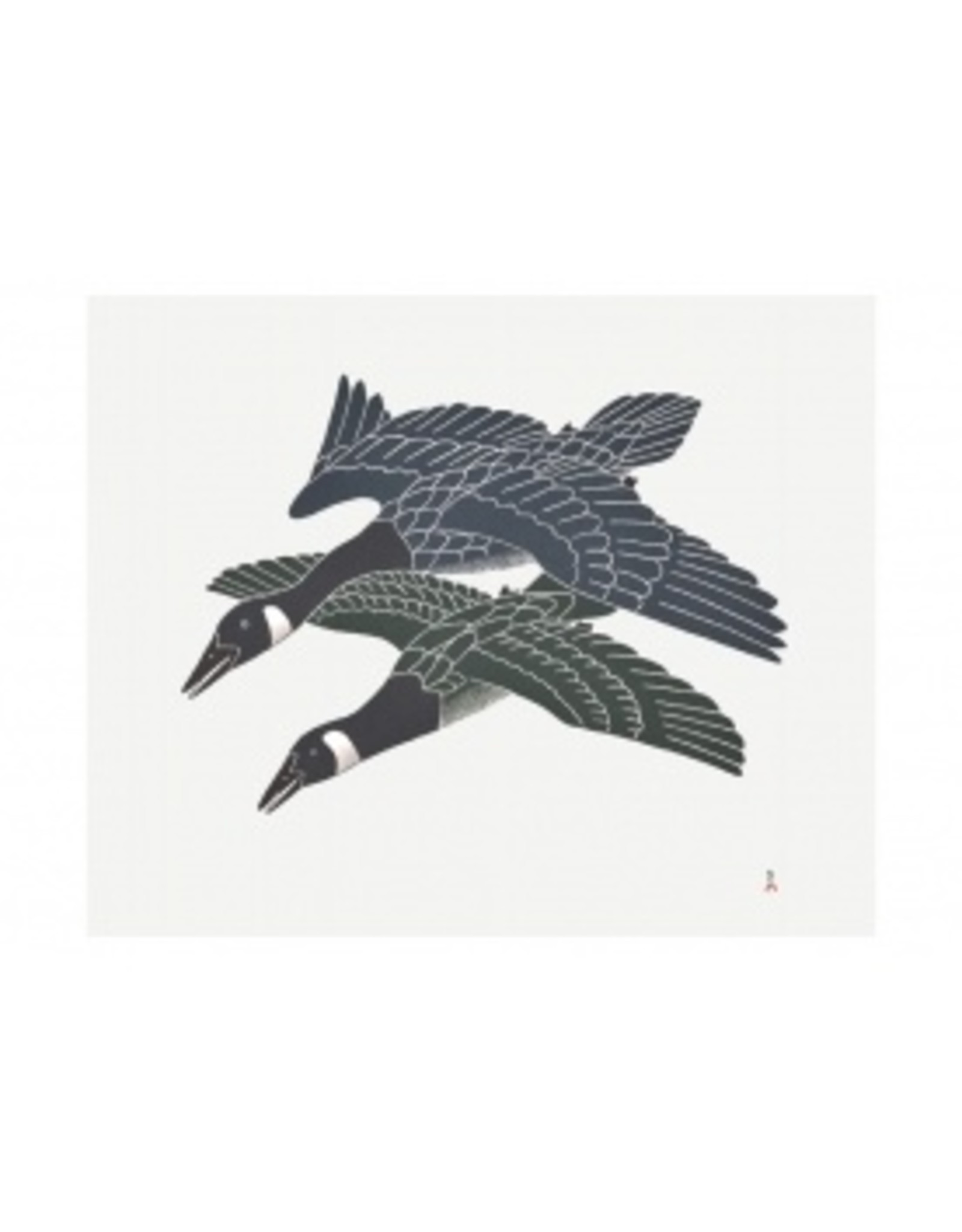 Cape Dorset Art Card: Migrating Geese
