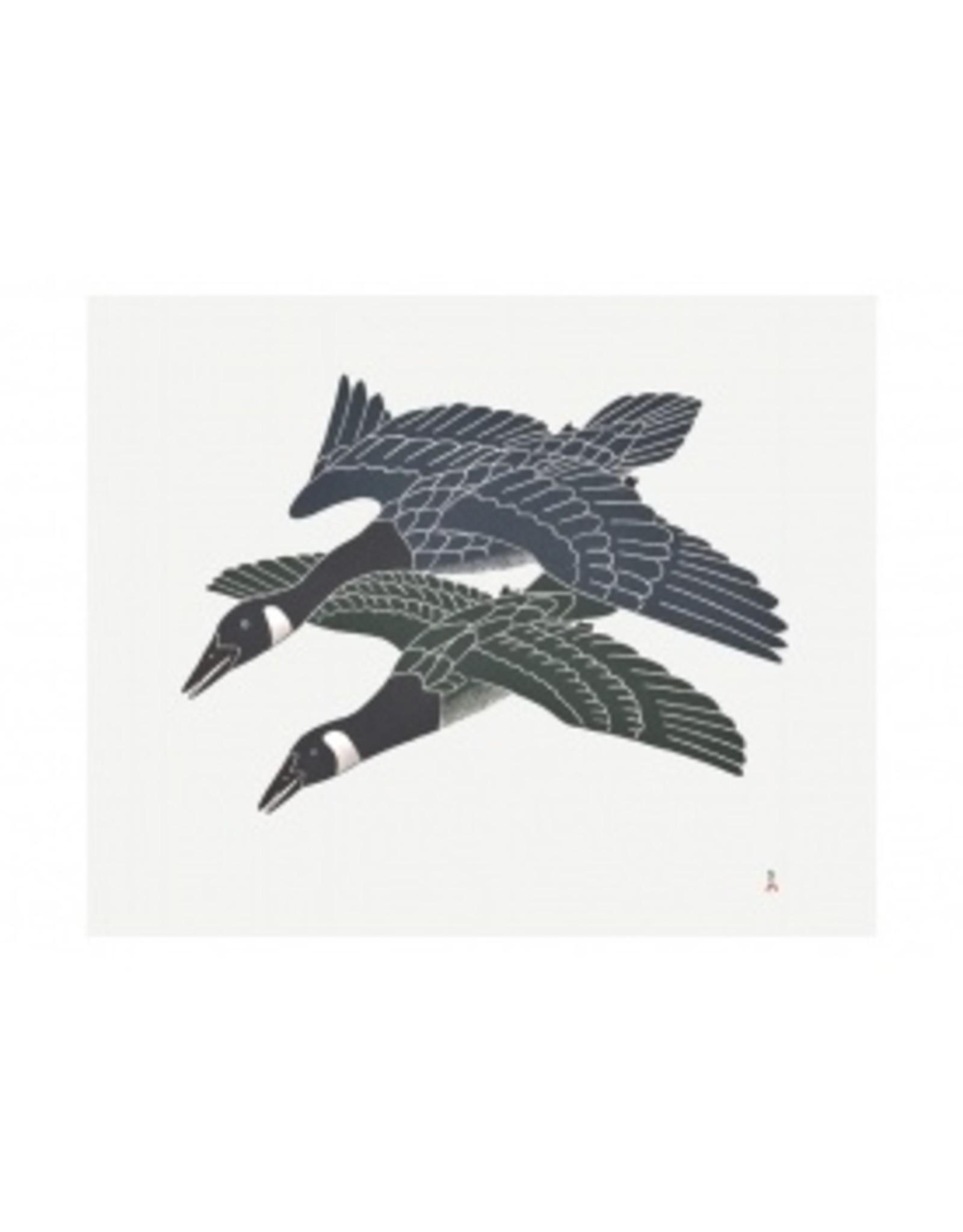 Cape Dorset Art Card: Migrating Geese