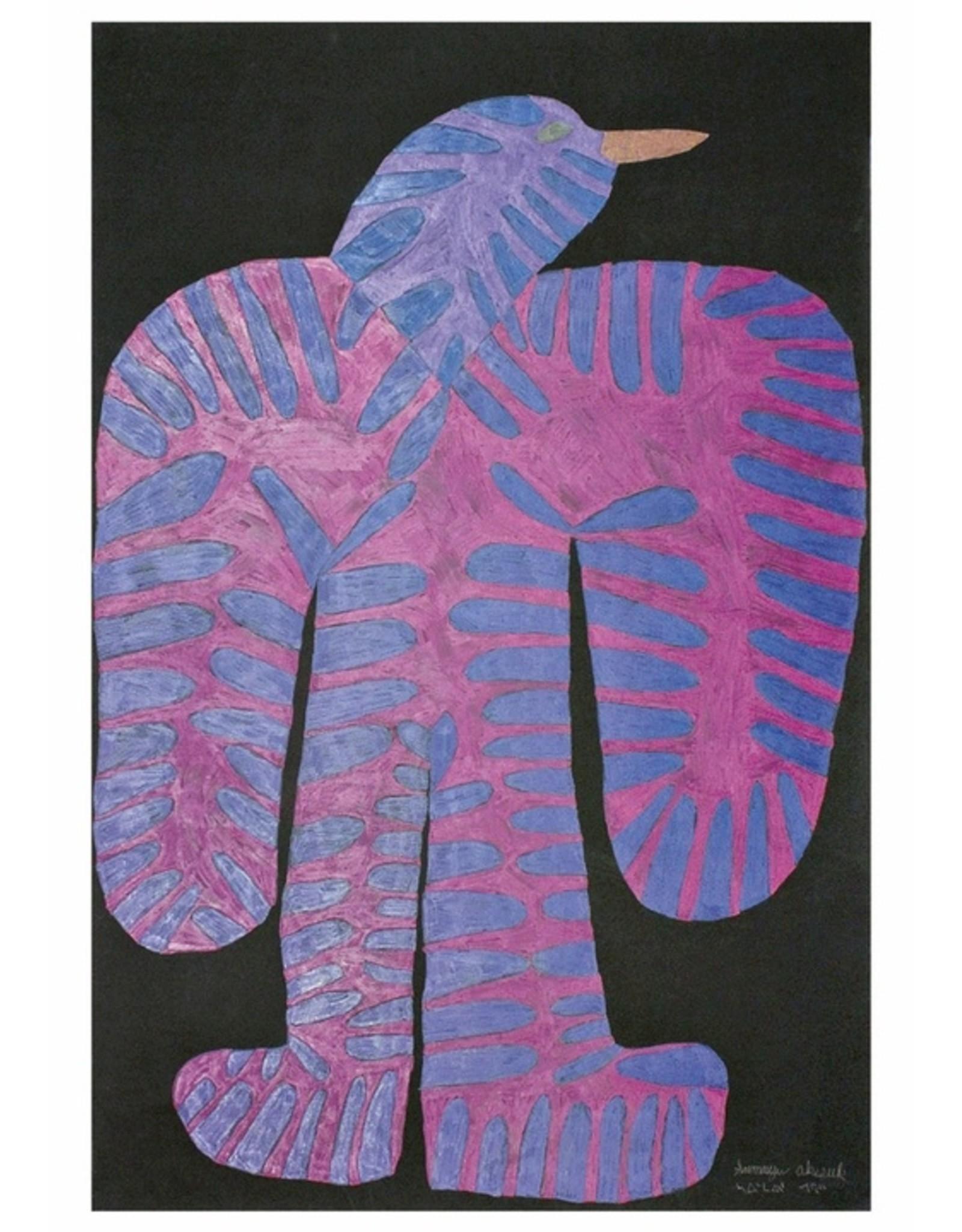 Cape Dorset Art Card:  Blue and Pink Bird