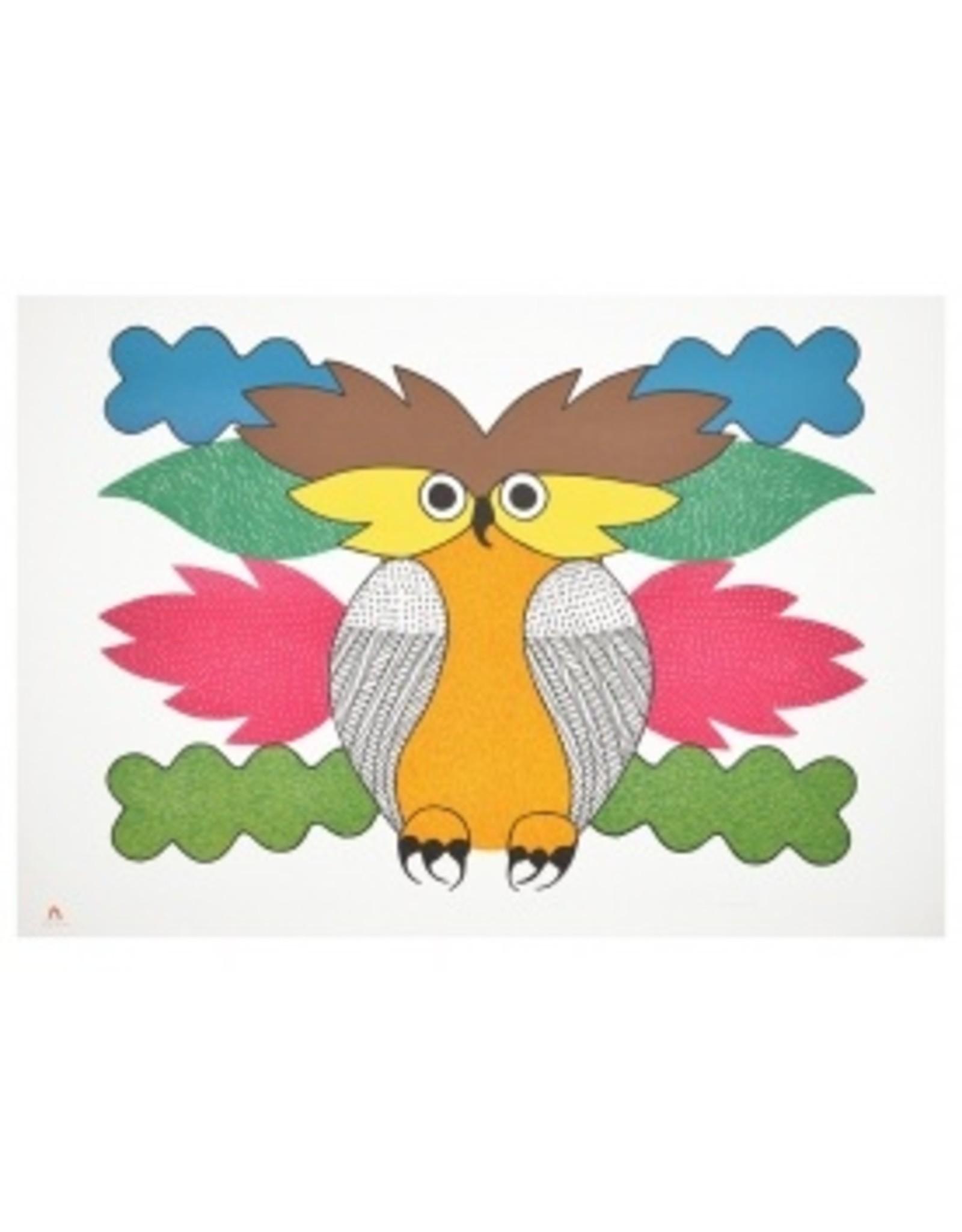 Cape Dorset Art Card: Spirit of the Owl