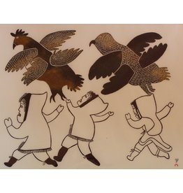 Cape Dorset Running with Birds