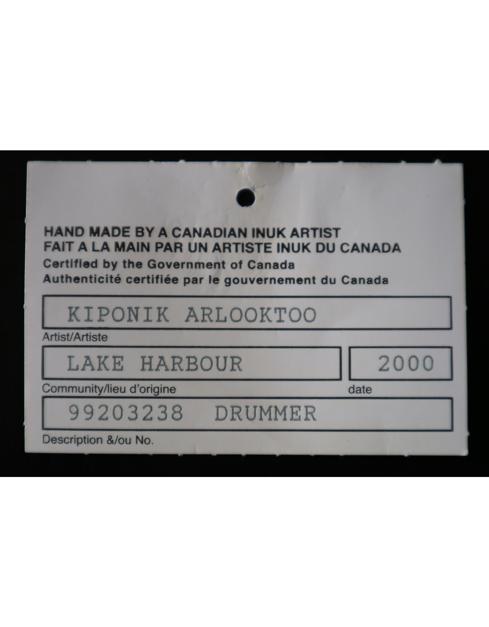 Lake Harbour Drummer - Arlooktoo