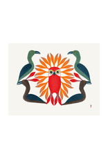 Cape Dorset Art Card: Loons Protect the Owl