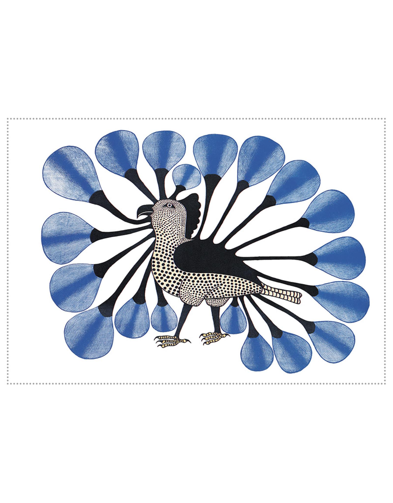 Cape Dorset Art Card: Owl in Blue