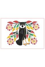 Cape Dorset Art Card: Owl's Bouquet dots